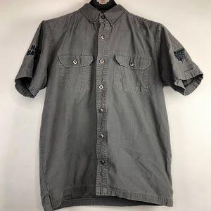 Harley Davidson Short Sleeve Button Down Shirt Med